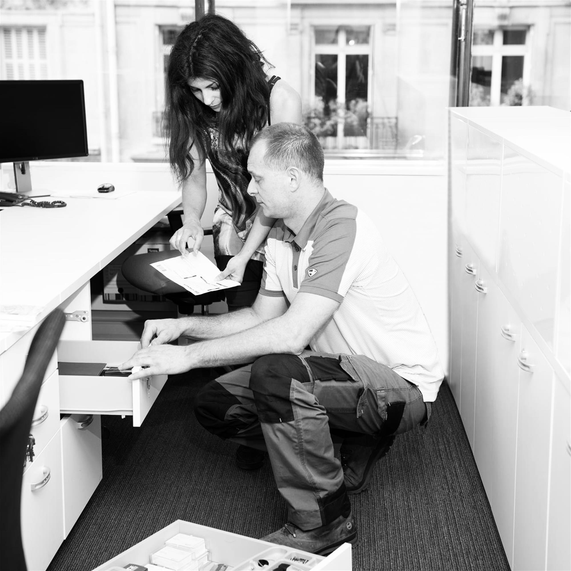 Norah et Hugues - AFCB Aménagement - Logistique et livraison