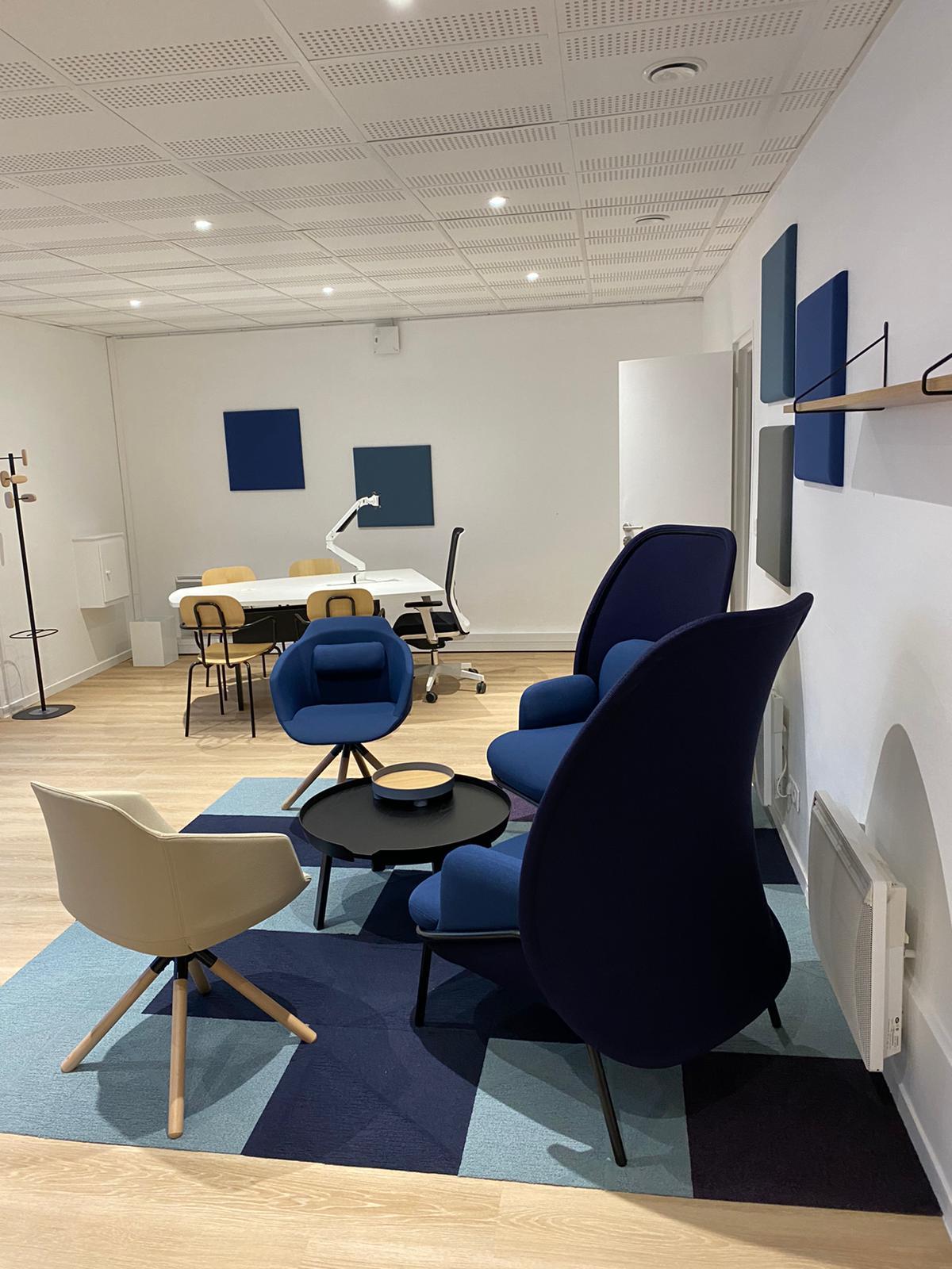La France Mutualiste - Espace Détente Fauteuils Lounge Moquette acoustique