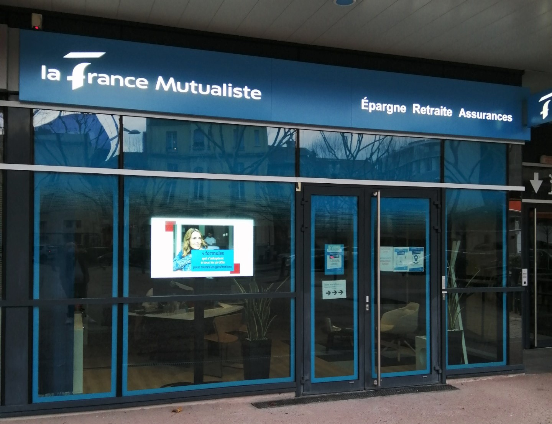 La France Mutualiste - Enseigne lumineuse, enseigne drapeau