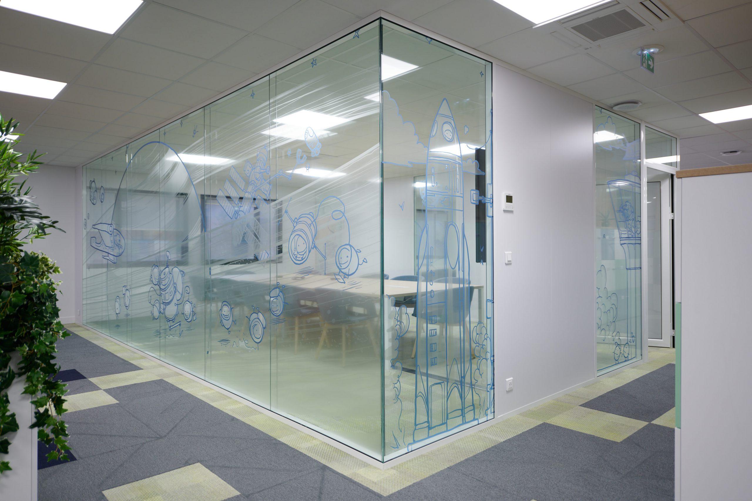 Ecomundo-cloisons vitrées-vitrophanie-films personalisés