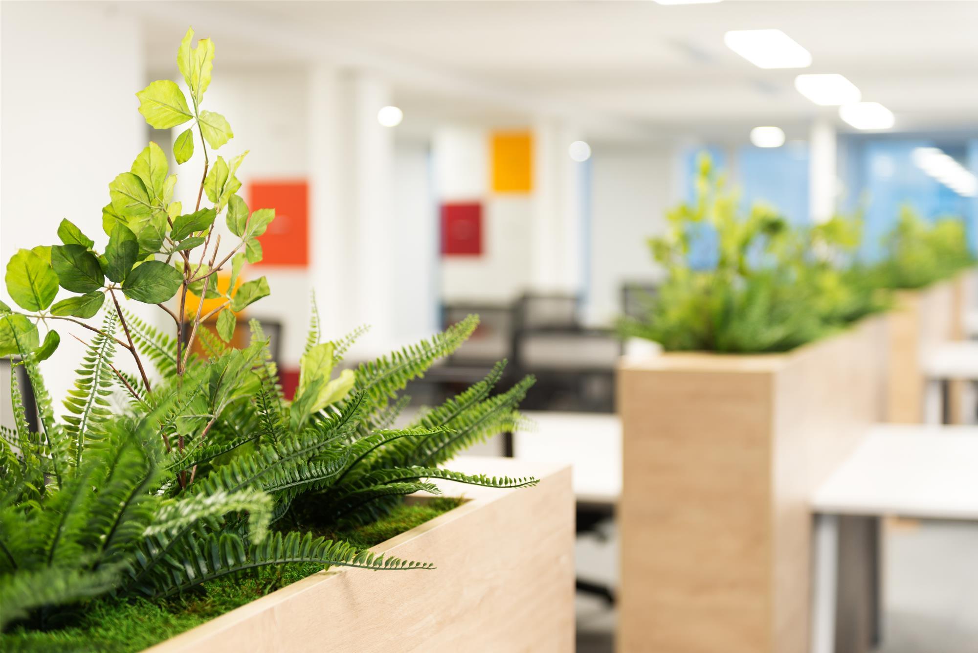 séparation bac à plantes-séparation bureau mi hauteur